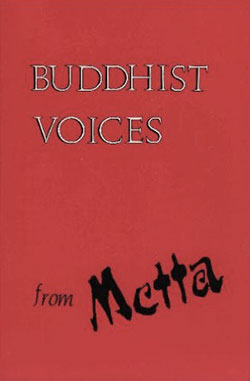 """Buddhist Voices from Metta"" book cover"
