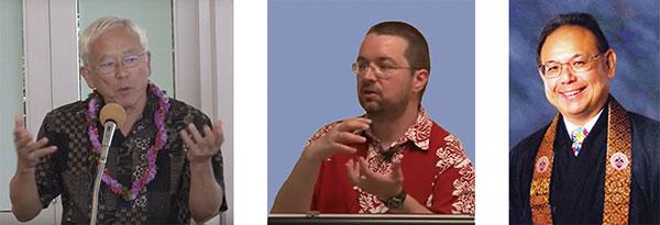 Dr. George Tanabe, Dr. Jeff Wilson, and Rev. Kevin Kuniyuki